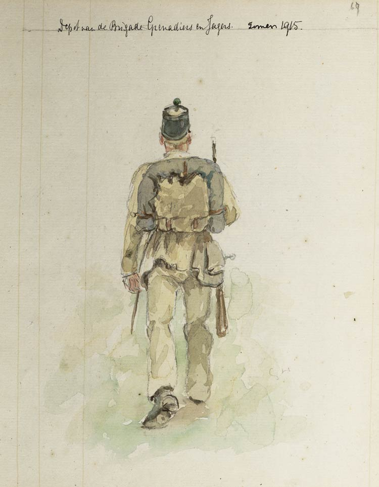 brig grenadiers en jagers uniform tot 1905